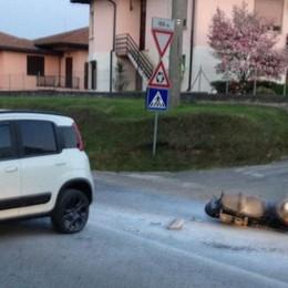 Olgiate, incidente in Garibaldina  Dopo lo scontro moto in fiamme