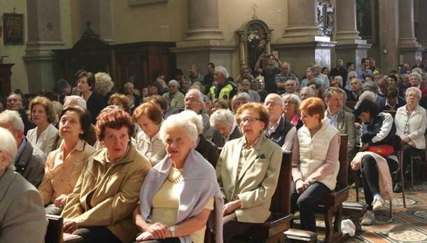 In duemila con il vescovo   Omaggio al San Gerardo