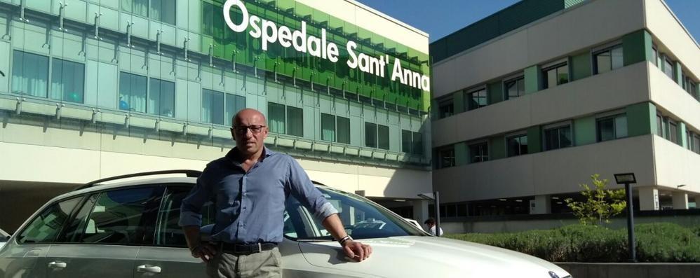 San Fermo, più corse per l'ospedale  È tornato il servizio taxi