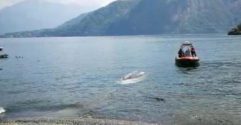 Tremezzina Lenno il recupero della barca