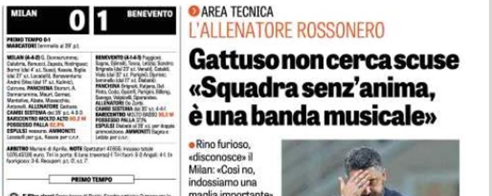 «Magari il suo Milan fosse una banda»  Da Cantù una replica a Gattuso