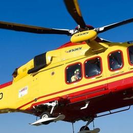 Bellagio, cade dalle scale Anziana soccorsa dall'elicottero