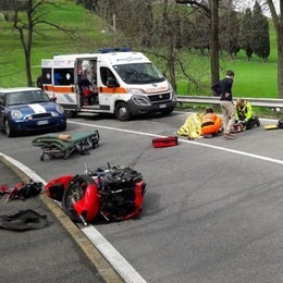 Incidente in moto Due feriti a Inverigo