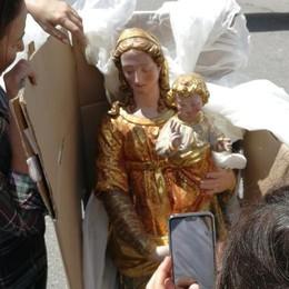 Gallivaggio, rischio frane  Trasferita anche la Madonna   Guarda il video