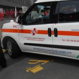 Oltrona, scontro tra auto   Coinvolte sette persone
