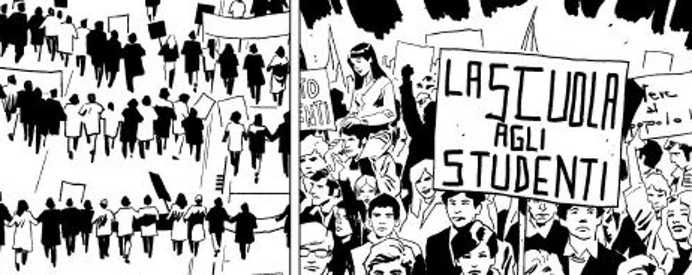 """""""Sessantotto, cani sciolti"""", la rivoluzione dei ragazzi a fumetti"""