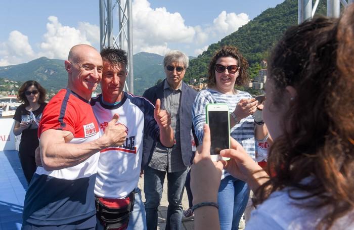 Como sport per le scuole in piazza Cavour con Adriano Panatta, Yuri Chechi, Ciccio Graziani e Andrea Lucchetta