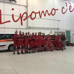 La Cri di Lipomo con i campioni  Al Giro d'Italia per la decima volta