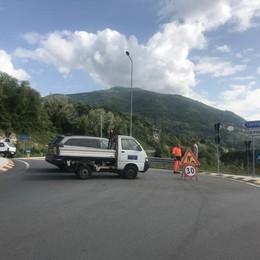 Chiuso il tunnel di Pusiano  Lavori in corso fino alle 17
