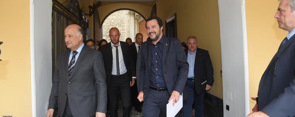 Autisti aggrediti, Salvini a Como «Due delinquenti già espulsi»