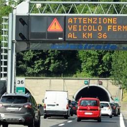 Autostrada, scontro in galleria Caos tra Brogeda e Como centro