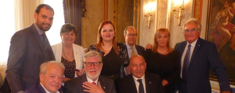 Festa del canottaggio comasco  con il presidente Abbagnale