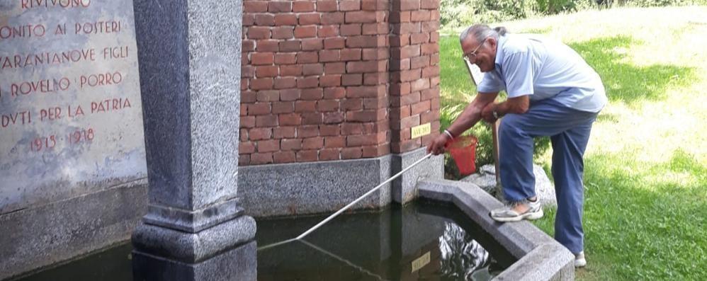 Rovello, rubano anche i pesci rossi  Ne sono spariti 40 dalla fontana