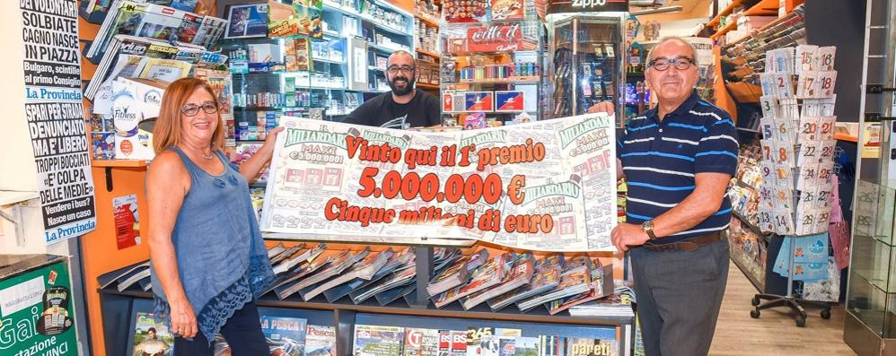 Cinque milioni vinti a Lucino  «So chi ha vinto aveva bisogno»