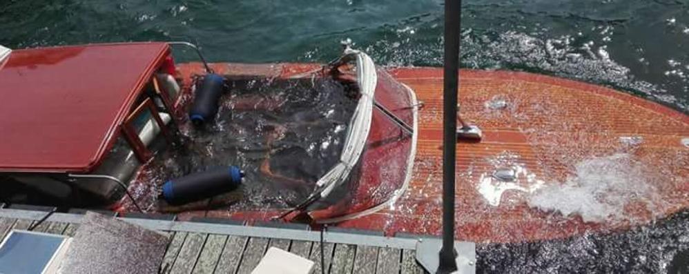 Taxi boat imbarca acqua  Paura a Lenno per tre turisti