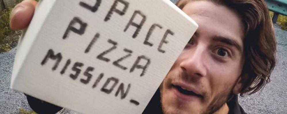La pizza arriva nella stratosfera  Riuscita l'impresa di Jonathan