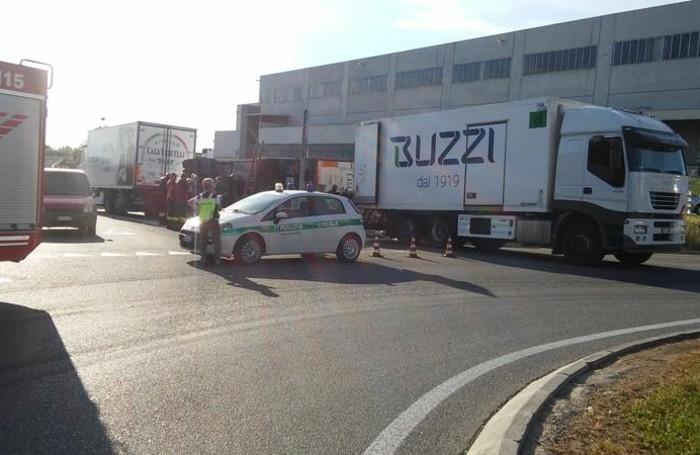 L'area dell'incidente è stata temporaneamente bloccata