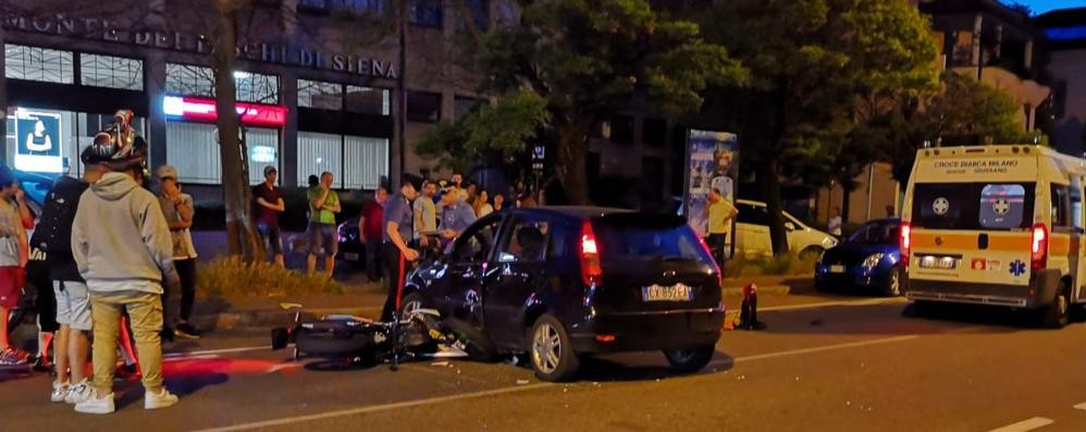 Mariano, scontro auto-moto: ferita una ragazza