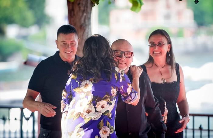 Como partenza del battello Concordia per la festa di Dolce & Gabbana,