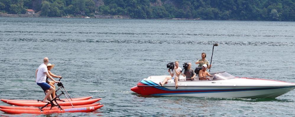 Show sul lago della star australiana  Laglio sarà protagonista anche in tv