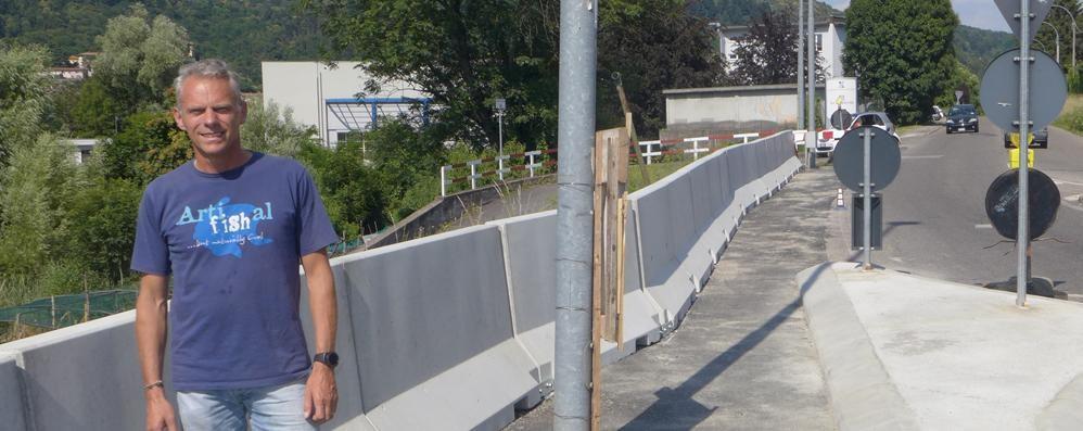 Tavernerio: Il muro in new jersey  resta al suo posto  «Brutto, ma efficace»