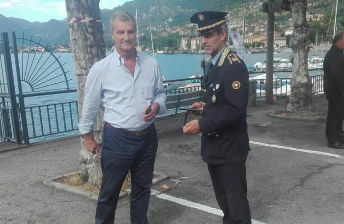 Il sindaco Mauro Guerra e il comandante della polizia locale Massimo Castelli