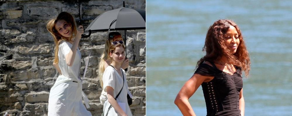 Tremezzina, per Dolce & Gabbana dopo Naomi la Herzigova  Tutti in fila per un  selfie