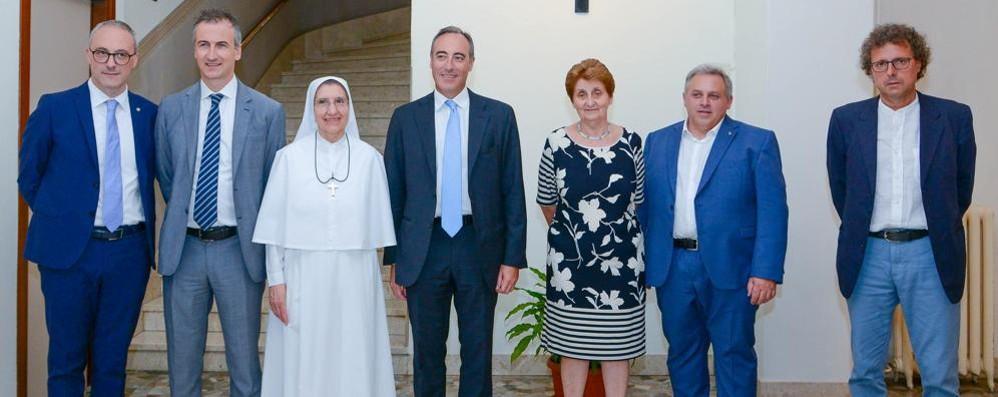 Giulio Gallera al Valduce  «Ospedale punto di riferimento»