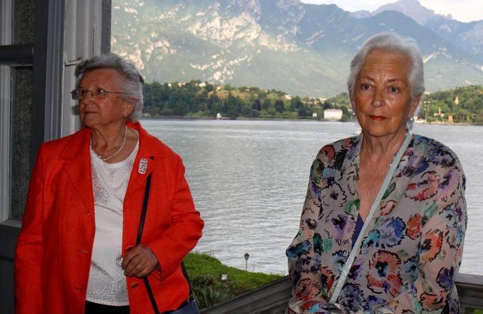 Tremezzo I Reali del Belgio a villa Carlotta Regina Paola e Contessa Bianchini