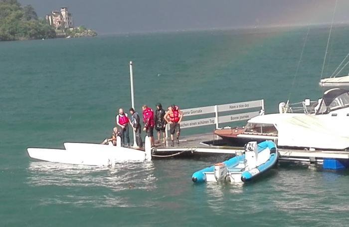 Il catamarano che ha scuffiato a Nobiallo