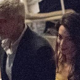 George e Amal  Sabato sera a Villa d'Este