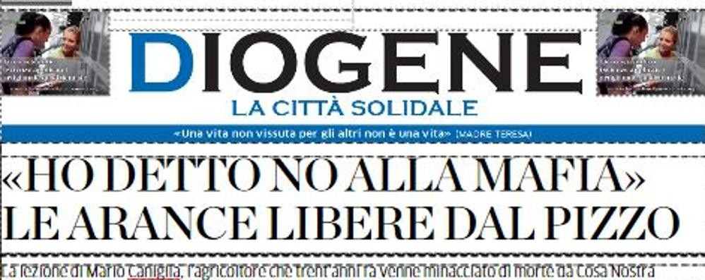 """Martedì c'è """"Diogene""""  Le notizie del bene  che fanno bene"""