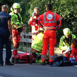 Incidente a Bellagio  Ferito un motociclista