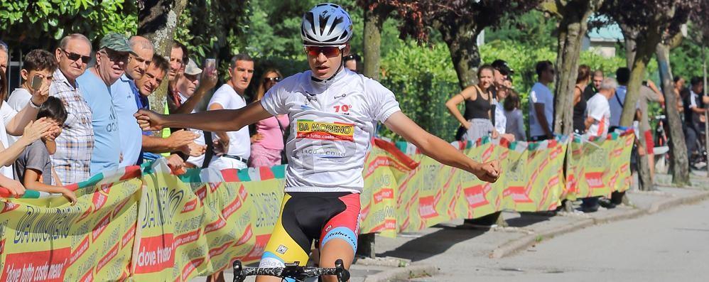 Giro della Provincia allievi  Vittoria anticipata di Vacek