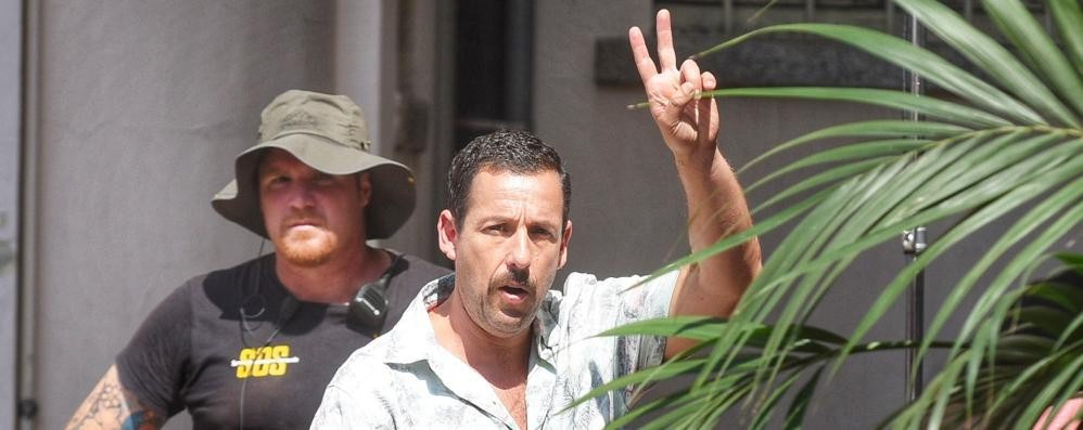 Hollywood sul Lario  Aniston e Sandler  salutano Como