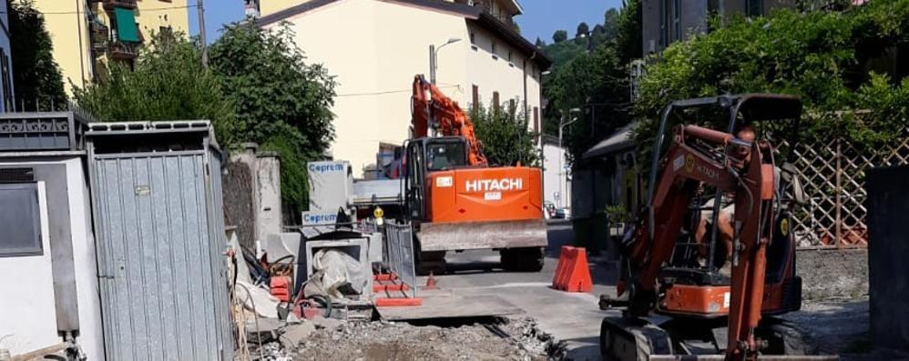 Maslianico, il cantiere a passo spedito  «E per la viabilità i disagi sono limitati»