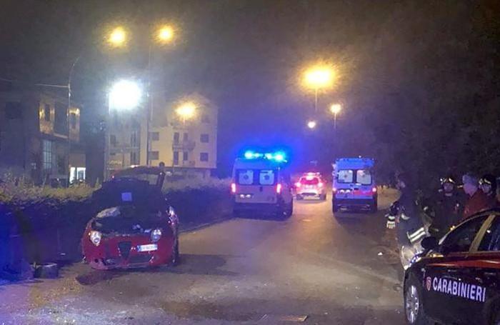 Un'altra immagine della scena dell'incidente