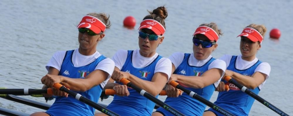 Mondiali di canottaggio  Noseda, Pelacchi, Rocek ok