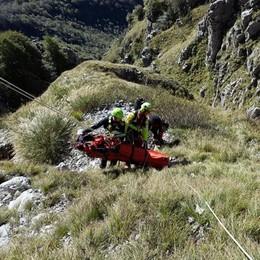 Precipita per 10 metri dalla Grignetta  È grave in ospedale