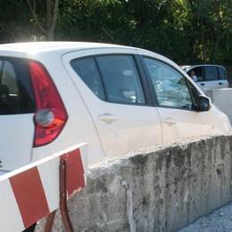 Cemento e bulloni per i new jersey  Viadotto Lavatoi più difficile da forzare