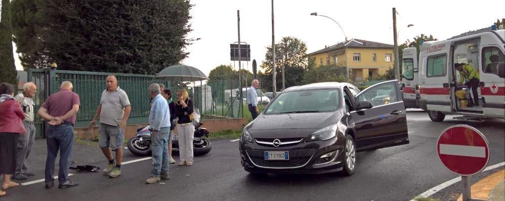 Albese, scontro auto-moto  Grave  uomo di Ponte Lambro
