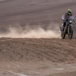 Caduta: moto distrutta, lui illeso  La Dakar di Cerutti finisce presto
