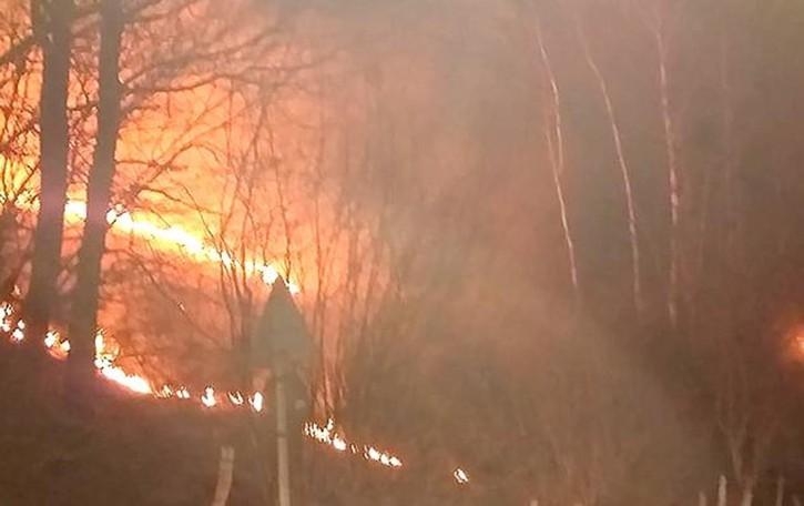 Incendi, tocca al Pian del Tivano  «Di certo non si è acceso da solo»