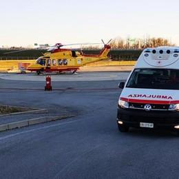 Infortunio a San Fermo Operaio ferito alla mano