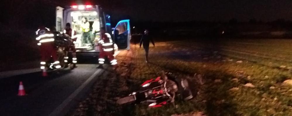 Cagno, frontaliere caduto in moto   Morto due giorni dopo l'incidente