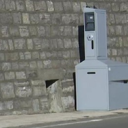 L'autovelox dopo la dogana  sulla strada dei frontalieri