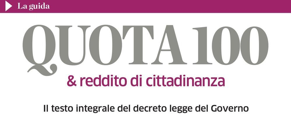 Decreto pensioni   Il testo integrale in regalo  sabato con La Provincia