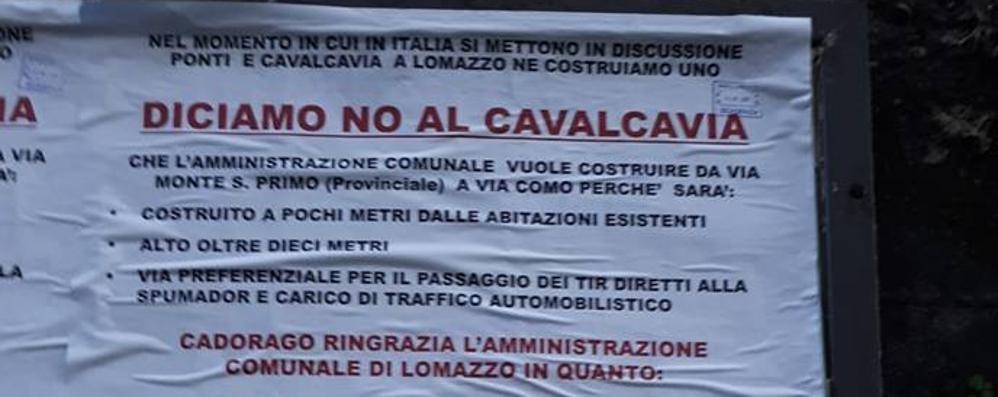 Lomazzo, manifesto contro il cavalcavia  «Rischiamo di ritrovarci un ecomostro»