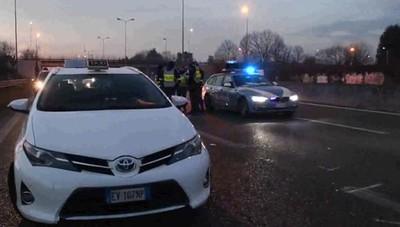 I rilievi dell'incidente sulla Superstrada