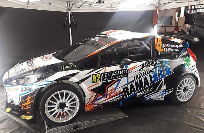 La macchina preparata per il rally di Montecarlo